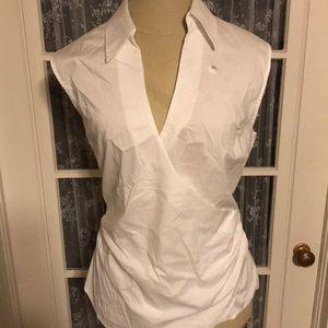 Faux wrap blouse (white)